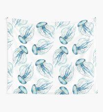Aquarell-Quallen Wandbehang