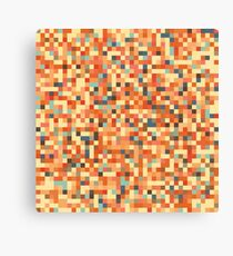 Pixel Art Pattern Canvas Print