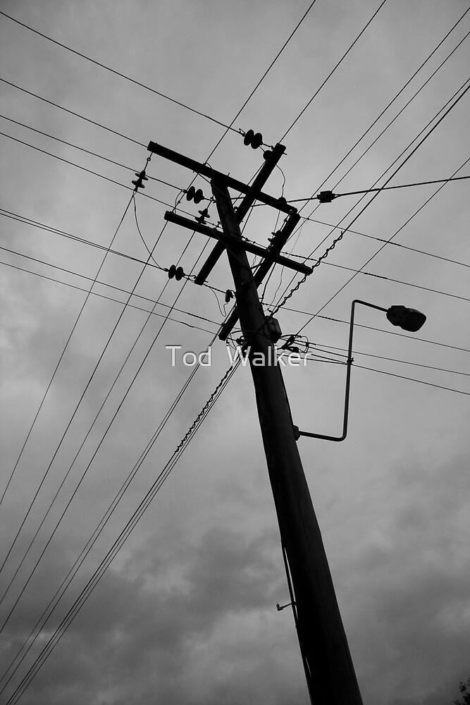 crossed lines by Tod  Walker
