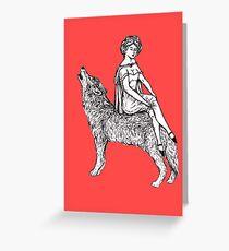 Dame Chaperon Rouge Greeting Card