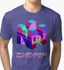 Nintendo 64 Vaporwave Tri-blend T-Shirt