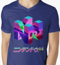 Nintendo 64 Vaporwave Men's V-Neck T-Shirt