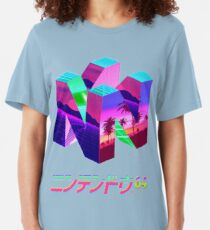 Nintendo 64 Vaporwave Slim Fit T-Shirt