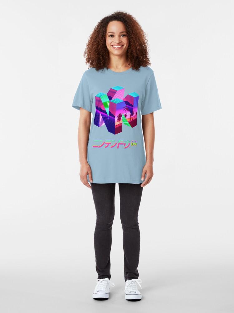 Alternate view of Nintendo 64 Vaporwave Slim Fit T-Shirt