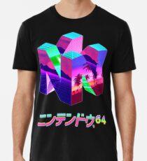 Camiseta premium para hombre Nintendo 64 Vaporwave