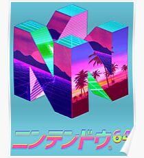 Nintendo 64 Vaporwave Poster