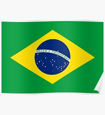 Brazil Flag Products Poster
