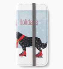 Newfoundland Dog Holiday Fun iPhone Wallet