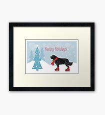 Newfoundland Dog Holiday Fun Framed Print