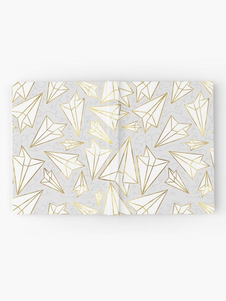 Alternate view of Paper Airplanes Gold Grey Hardcover Journal