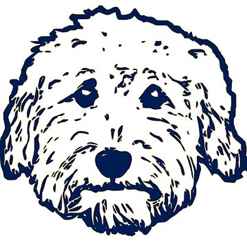 Goldendoodle face silhouette! Adorable doodle dogs with purple background by smooshfaceutd