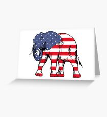 Patriot Elephant Greeting Card