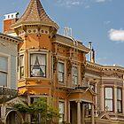 Old Victorian House - Haight Ashbury Neighborhood - San Francisco, California by Buckwhite