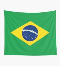 Brazil Flag Products Wall Tapestry