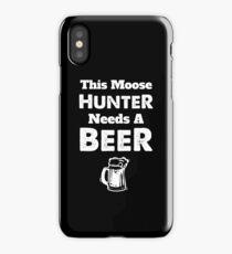 Moose Hunter Hunting Bull Season iPhone Case