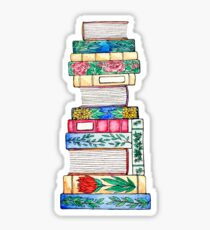 Autumnal Floral Book Stack Sticker