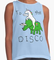 To The Disco (Unicorn Riding Triceratops) Contrast Tank
