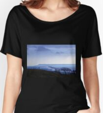 Landscape across Chesil Beach and Abbotsbury Women's Relaxed Fit T-Shirt