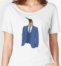 Penguin in a suit. Women's Relaxed Fit T-Shirt