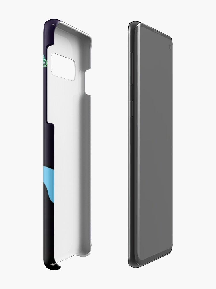 Vista alternativa de Funda y vinilo para Samsung Galaxy Unicornio montando Dinocorn en el espacio