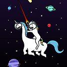 Unicorn Riding Dinocorn In Space by jezkemp