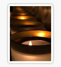 candles in Notre Dame Sticker