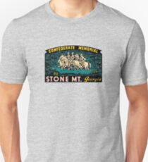 Confederate Memorial Stone Mountain Georgia Vintage Travel Decal T-Shirt