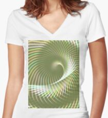 Glowing Spiral 2 Women's Fitted V-Neck T-Shirt