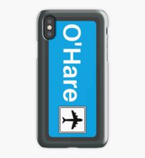 CTA Blue Line OHare Display iPhone Case/Skin