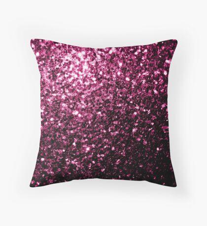 Beautiful Dark Pink glitter sparkles Throw Pillow