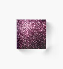 Beautiful Dark Pink glitter sparkles Acrylic Block