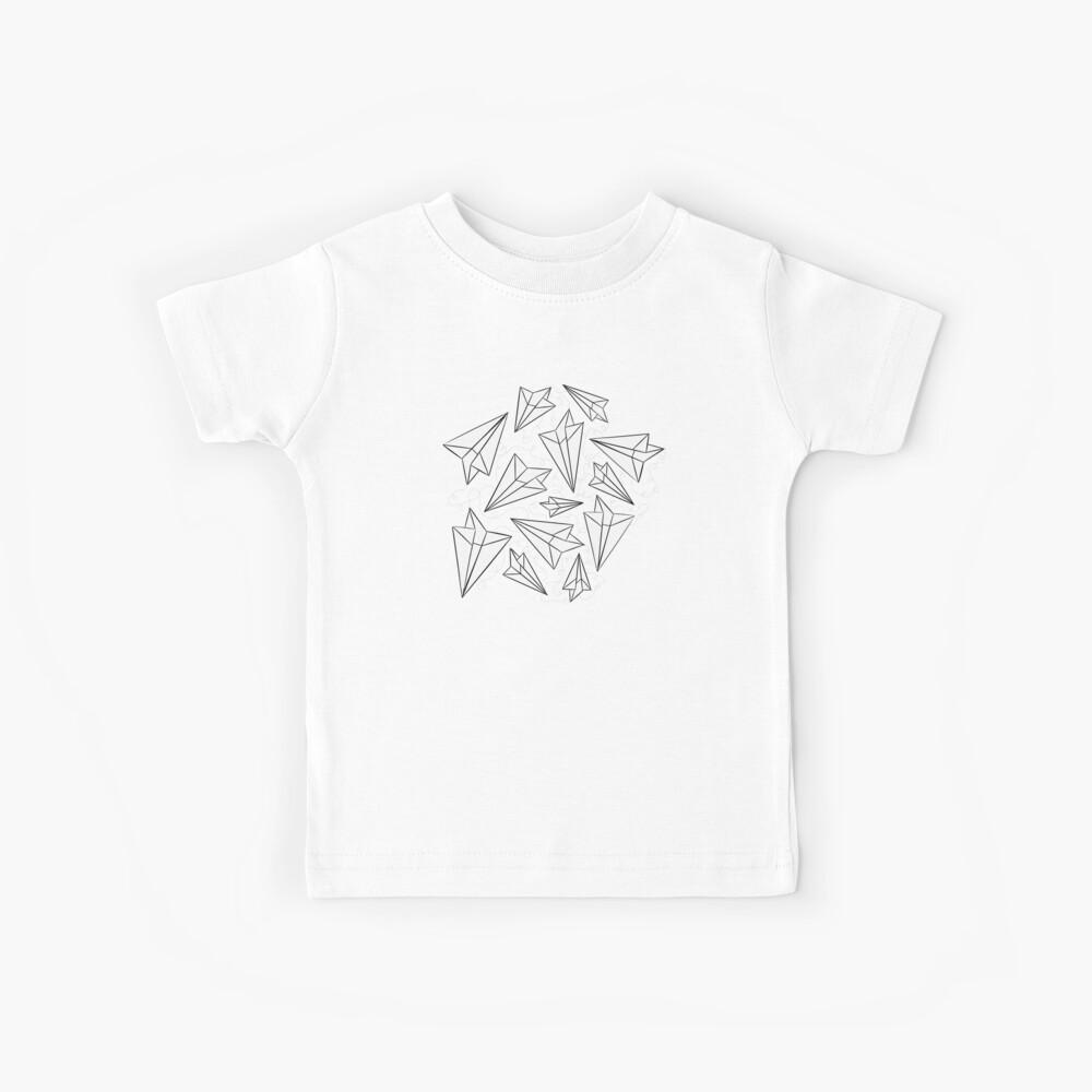Paper Airplanes Mint Kids T-Shirt