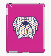 Mastiff dog face in polka dots! Dogue de Bordeaux, Bordeaux Mastiff, French Mastiff iPad Case/Skin