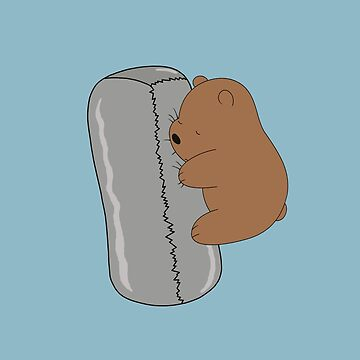 Burrito Baby Grizz - We Bare Bears Cartoon  by DomCowles12