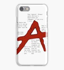 pretty little liars A qoutes   iPhone Case/Skin