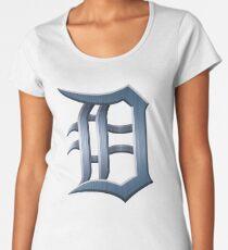 Detroit Old English D - Brushed Metal Women's Premium T-Shirt