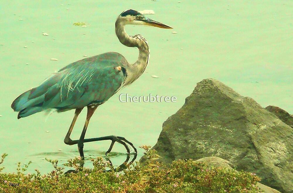 Blue Heron: by Cherubtree