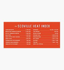 SCOVILLE HEAT INDEX hot pepper Photographic Print