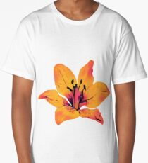 Orange Flower Long T-Shirt