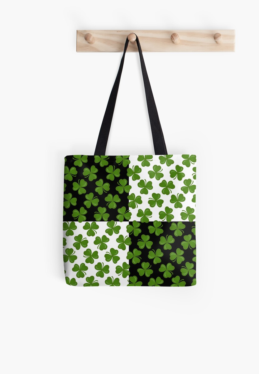 Studio Dalio - Green Shamrocks Pattern Tote Bag