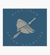 Blue Team Arena Champion Photographic Print