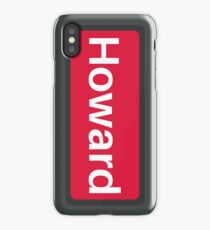 Red Line to Howard CTA iPhone Case/Skin