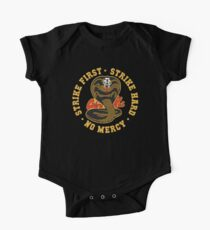 Cobra kai - Strike First - Strike Hard - No Mercy HD Logo One Piece - Short Sleeve