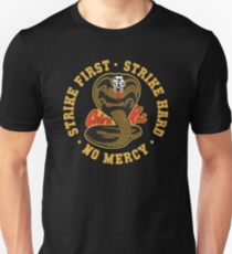 Cobra kai - Strike First - Strike Hard - No Mercy HD Logo Unisex T-Shirt