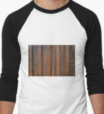 Rustic weathered barn wood background. T-Shirt