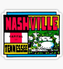 Nashville Tennessee Vintage Travel Decal Sticker