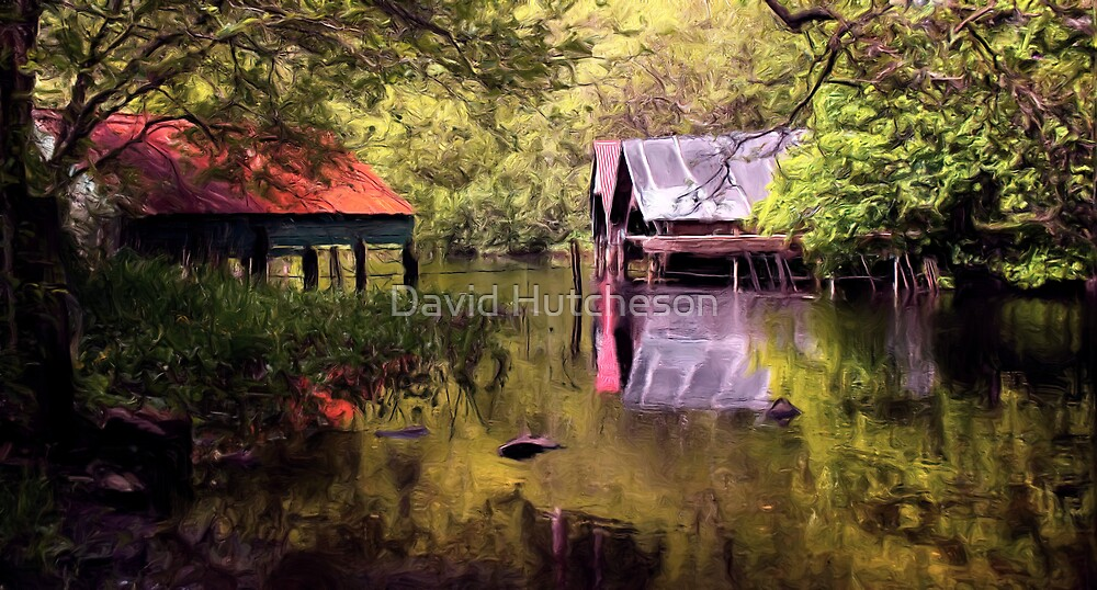 Old Boat Houses - Loch Ard * by David Hutcheson