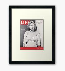 Marilyn Monroe LIFE Cover Framed Print