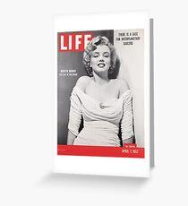 Marilyn Monroe LIFE Cover Greeting Card