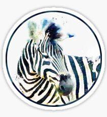 Zebra Fine Art Digital Watercolor Sticker